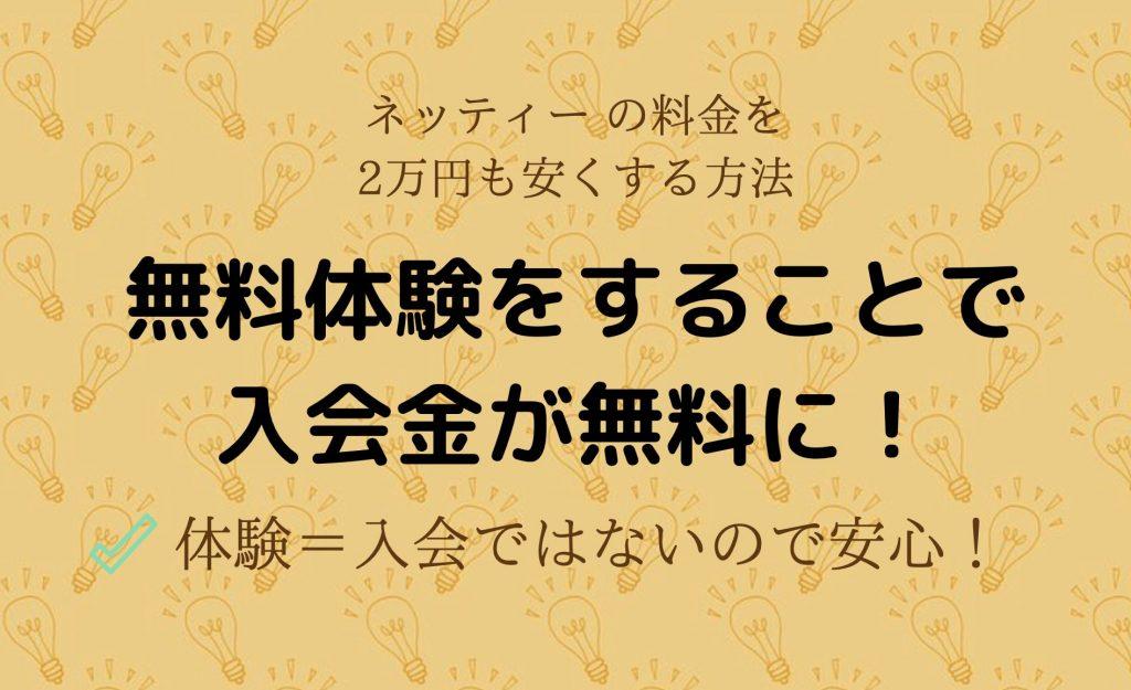 ネッティー(Netty)の料金を2万円も安くする方法